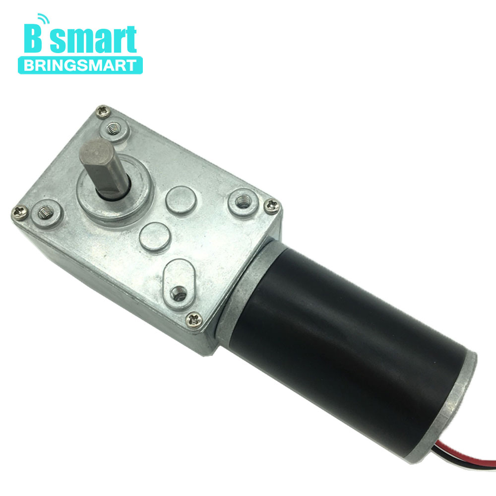 Bringsmart A58SW31ZY 12V DC Motor Worm Gear Motor High Torque 70kg.cm 24V Mini Gearbox Motor Reversed Self-lock Engine DIY Parts bringsmart worm gear motor high torque 70kg cm 12v dc motor mini gearbox 24v motor reversed self lock engine diy parts a58sw31zy