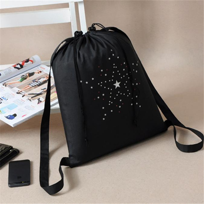 High Quality Drawstring Sports Bag Schoolbag Storage Backpack Women Girls Dance Bag 42cm32cm Large capacity #2a06#F (3)