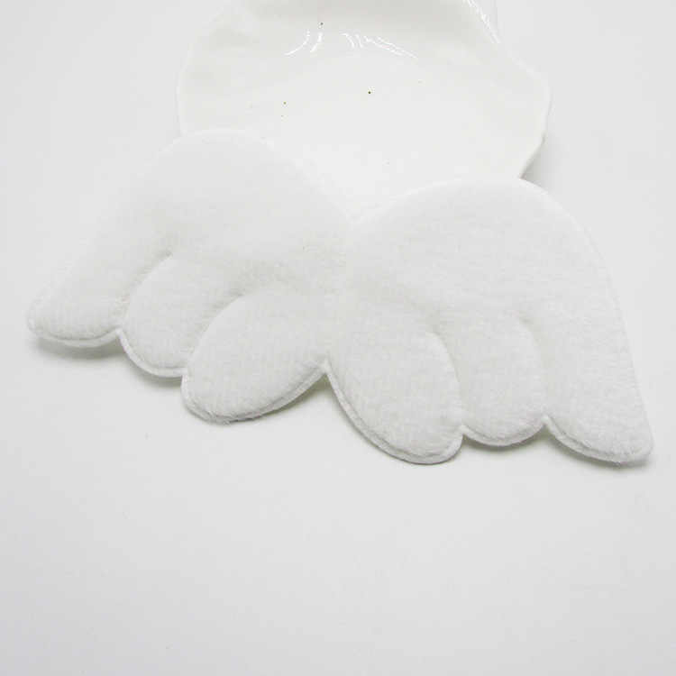 20pcs/lot Two Side Furry Felt Angel wing Shape Padded Appliques For Kid DIY Patch And Baby Headwere Accessories