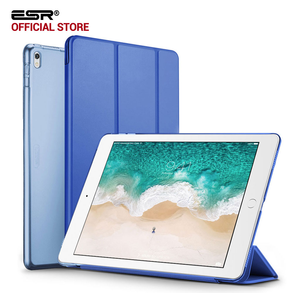 Case for iPad Pro 12.9 2017, ESR Color PU Leather Ultra Slim Transparent Back Tri-fold Smart Cover Case for iPad Pro 12.9 inches