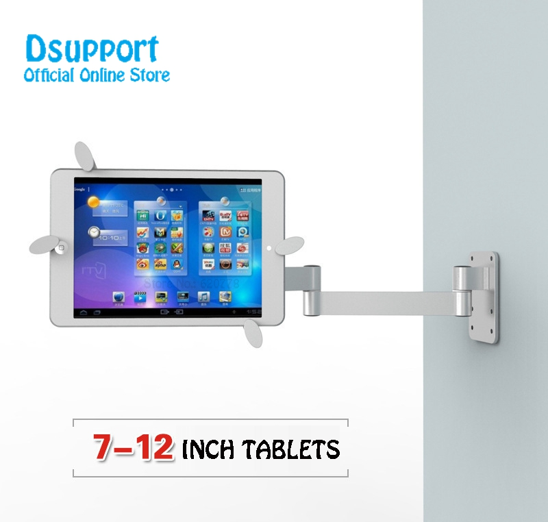 Full motion Fit for tablets PC 7 12 inch wall mount metal bracket ceiling mount tablet