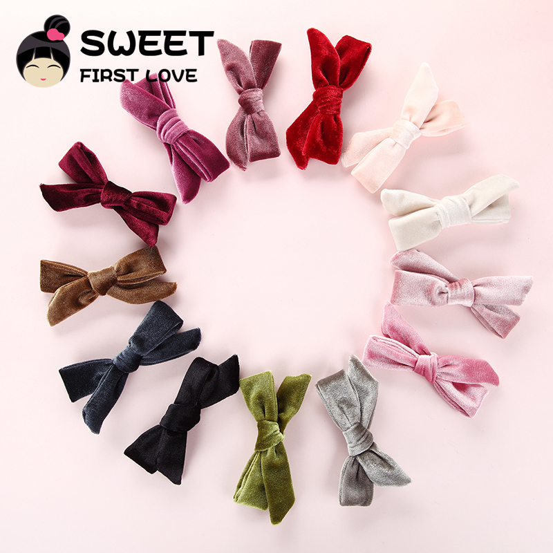 13 Pcs/lot New Bows Velvet Hair Clips Fashion Bowknot Hairpins For Women Girls Hair Accessories Lovely Bow Hair Barrettes