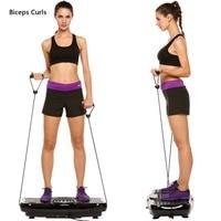 J way new Fitness Equipment Vibration Platform Workout Machine Exercise Equipment Body Building US&UK Plug
