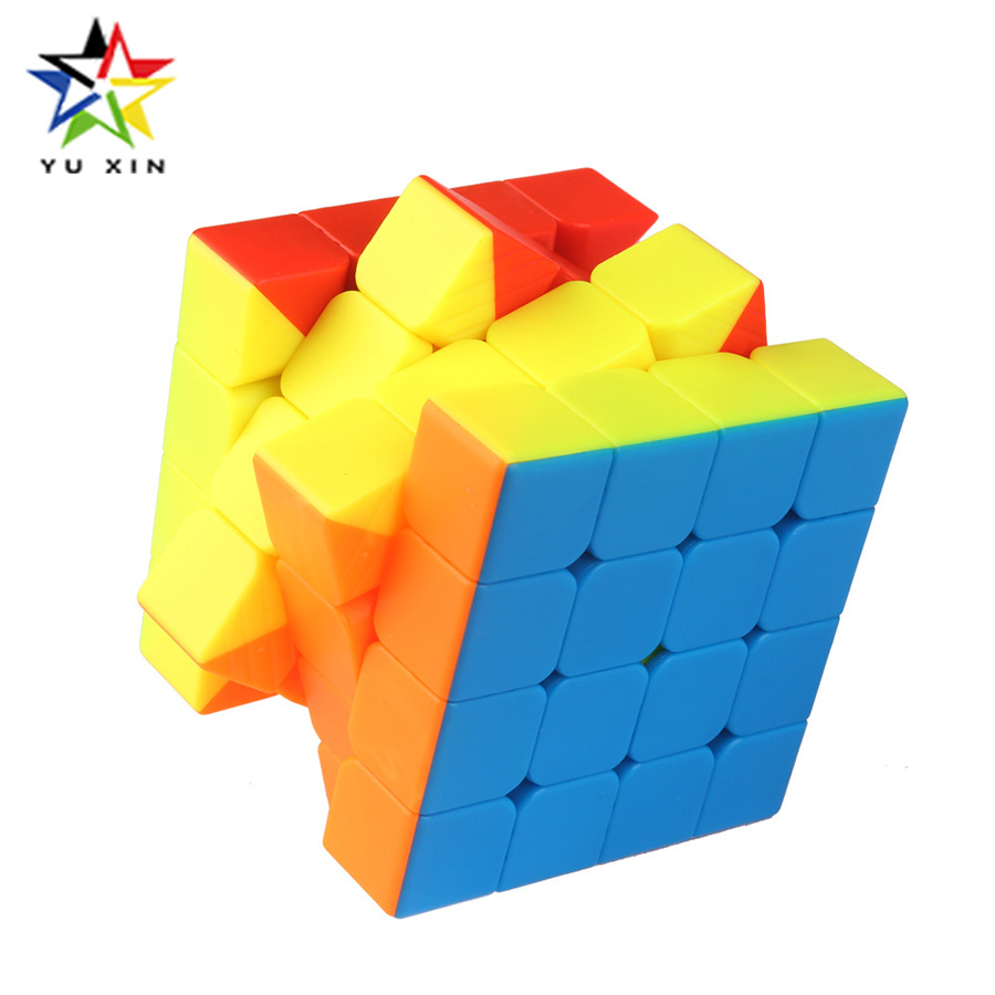2018 YUXIN 4X4X4 Mini Magic Cube 60mm Professional Speed Cube Speed Puzzle Cube Educational Toys For Children Kids Xmas Gifts