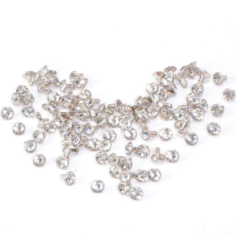 30-100 Sets Crystal Rhinestone Trim Remaches Diamante Studs DIY Crafts Ropa Bolsa Decoraci/ón de cuero Rebite Spikes Glass Drill Nail Golden 10MM 30Pcs