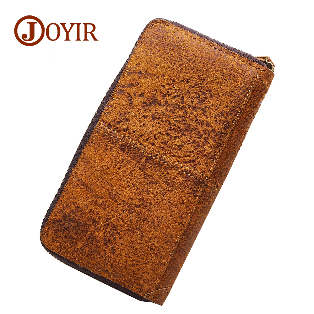 Brand Men Genuine Leather Wallet Purse Long Hasp Zipper Wallet Handbag Men Clutch Bag Male Coin Purse Money Card Holder curewe kerien brand men s genuine leather long zipper purse business wallet handbag