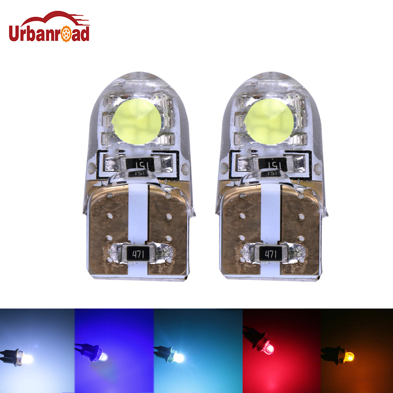 Urbanroad 2pcs T10 W5W 194 SMD5050 2Leds CANBUS No Error Led Car Interior Waterproof Car Bulb Lamp Red Yellow White Blue flytop 10 x t10 canbus 5smd 5050 smd error free car bulb w5w 194 led lamp auto rear light white blue yellow red color can bus
