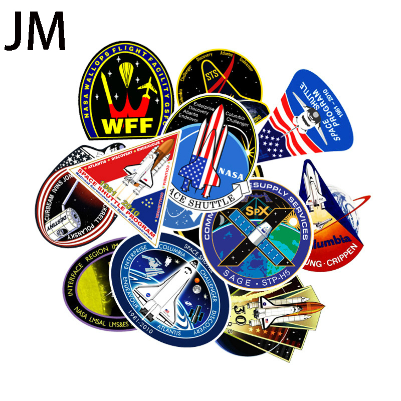 45Pcs Outer Space Sticker UFO Astronaut Rocket Cartoon Sticker Gift Child Toy Skateboard Laptop Car Wallpaper