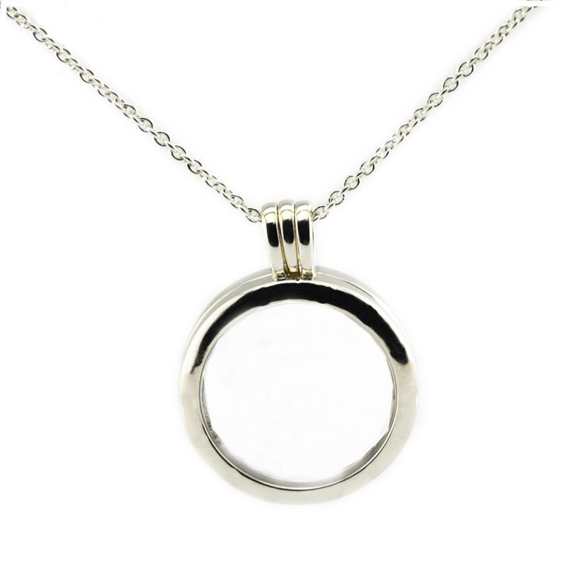 Floating Locket Chain Necklace Sterling Silver Jewelry Suitable for Any Neckline Women New DIY Wholesale Pendant Necklace