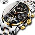 Männer Uhren Luxus Top Marke LIGE Tourbillon Mechanische Sport Uhr Mens Fashion Business Automatische Uhr Mann Relogio Masculino
