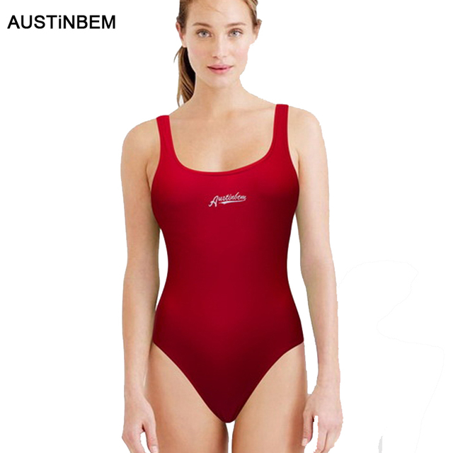 2098bee157 AUSTINBEM Professional Swimwear One Piece Swimsuit Women Backless Monokini  Swimsuit Sport Bodysuit Bathing Suit Swim Bikini