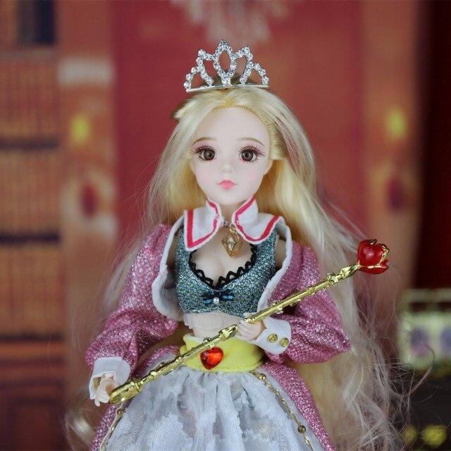 TAROT CARD Major Arcana The empress joint body doll golden blonde hair 34cm east barbi 1
