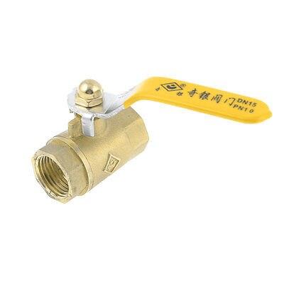 1/2 PT Female Thread F/F Lever Grip Full Tube Brass Ball Valve 1 4 pt female to female thread lever handle full port brass ball valve zmm