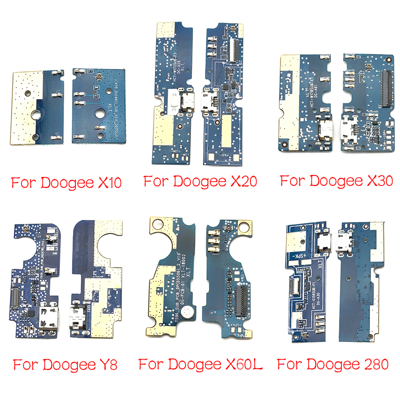 For Doogee DG280 F5 S60 X10 X20 X30 X60L Y8 F7 Pro Mix 2 USB Power Charging Connector Plug Port Dock Flex Cable