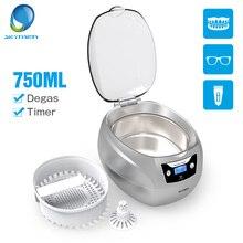 Skymen 750 мл 35 Вт Ультразвуковой очиститель ювелирных изделий ванна для протезов очки, бритва PCB резак Degas таймер ультразвуковая Чистящая машина
