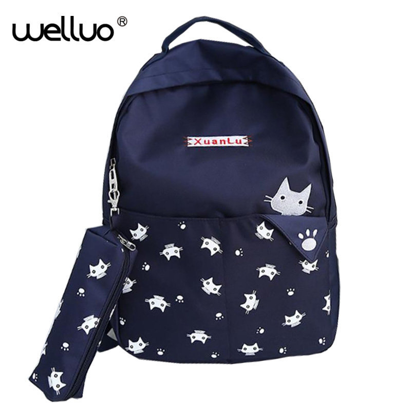 Hot Selling Student Book Bag Women Backpack High Quality Canvas Plaid Preppy Style Girl Fashion Kawaii