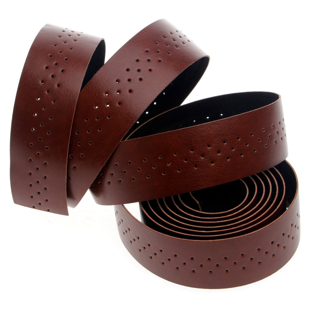 New 100/% Genuine Real Leather Bike Bicycle Cycling Handlebar Tape Wrap Red