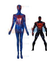 Disfraz de superhéroe Spider-man 2099 brillante metálico fullbody halloween cosplay Spiderman traje zentai