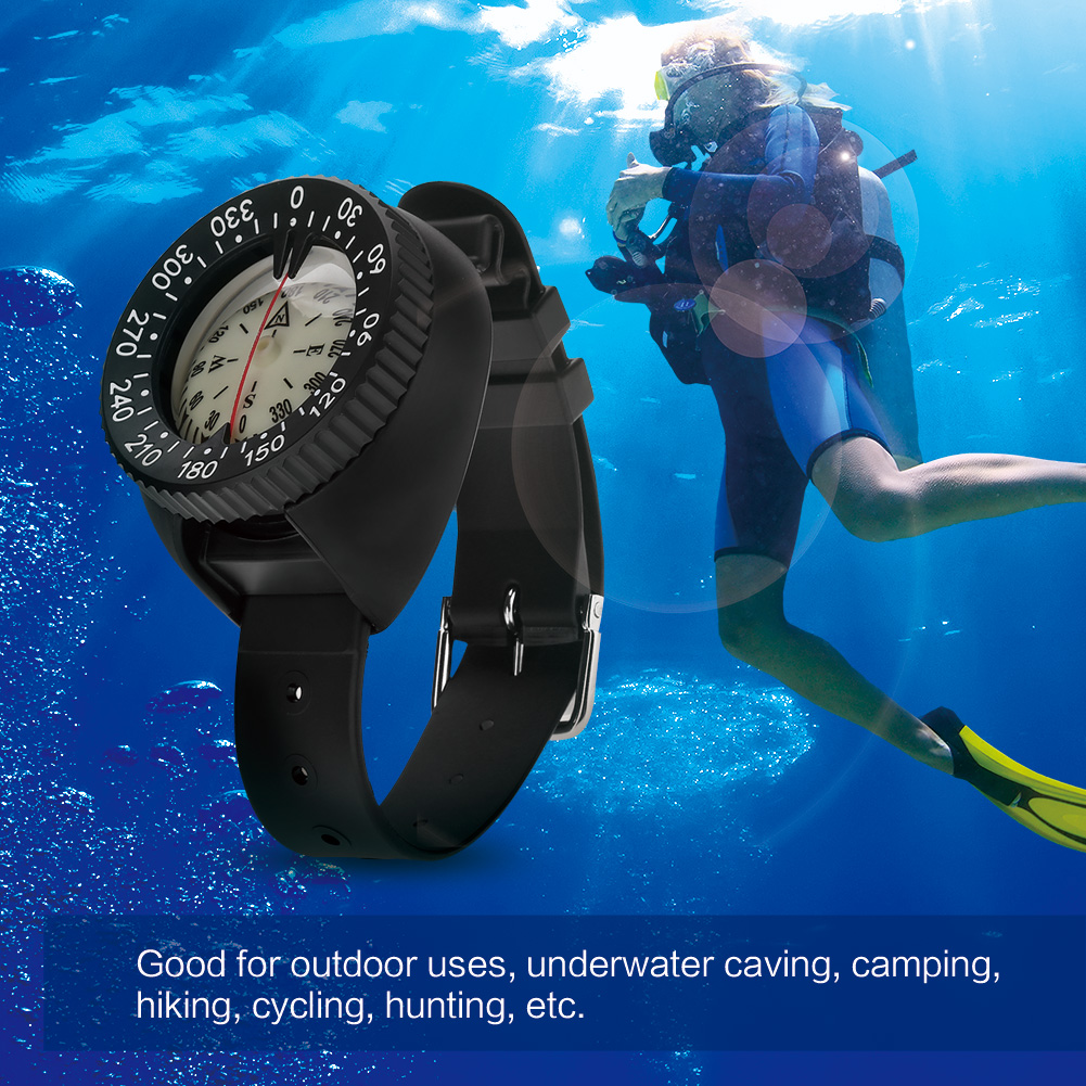 Outdoor Compass Professional Diving Compass Waterproof Navigator Digital Watch Scuba Compass For Swimming Underwater
