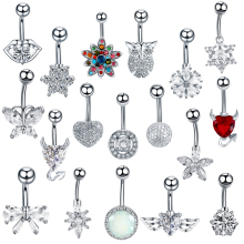 1Pc Stainless Steel 14G Navel Piercing Belly Button Rings Piercing Ombligo Navel Nombril Belly Piercing Navel Ring Sexy jewelry