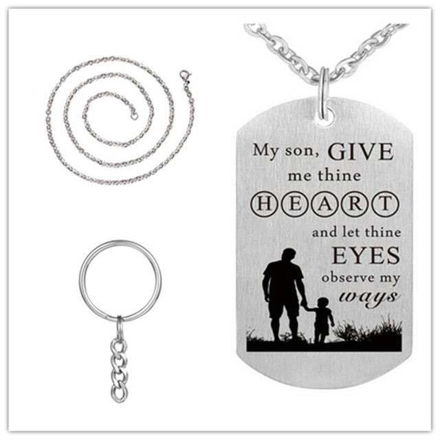 My son give me thine heart dog tag necklace 316l stainless steel my son give me thine heart dog tag necklace 316l stainless steel inspirational pendants necklaces aloadofball Gallery
