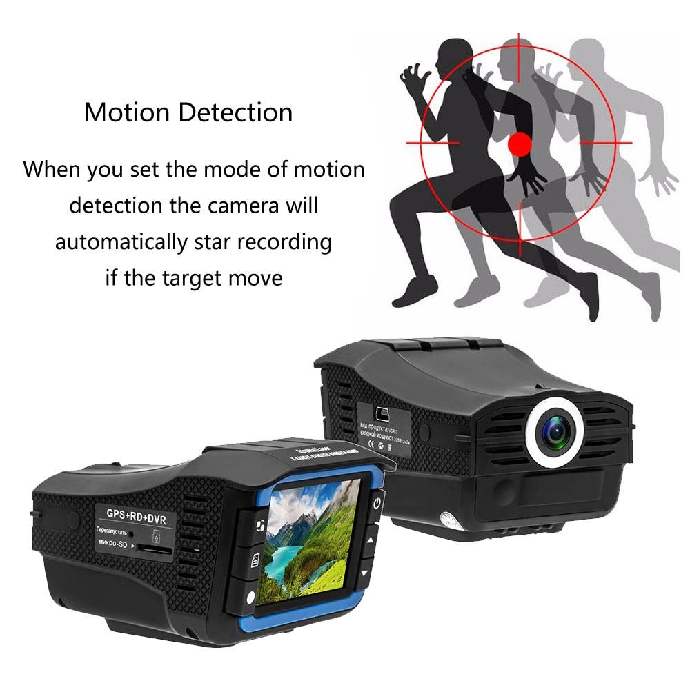 Auto Video Dash Camera Motion Detection G sensor Russian 3 In 1 Dash Cam Car DVR Radar Detector GPS Tracker Driving Recorder