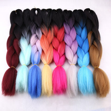 "Amir Kanekalon Jumbo Braids Bulk Synthetic Hair 24"" 100g African Braiding Hair Style Crochet Hair Extensions 1Packs/Lot"