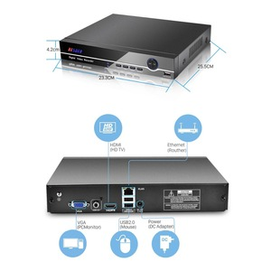 Image 3 - BESDER H.265 25CH 5MP CCTV NVR DVR Network Video Recorder For IP Camera Onvif 2.0 XMEYE P2P Cloud 24/7 Record Max 4K Output