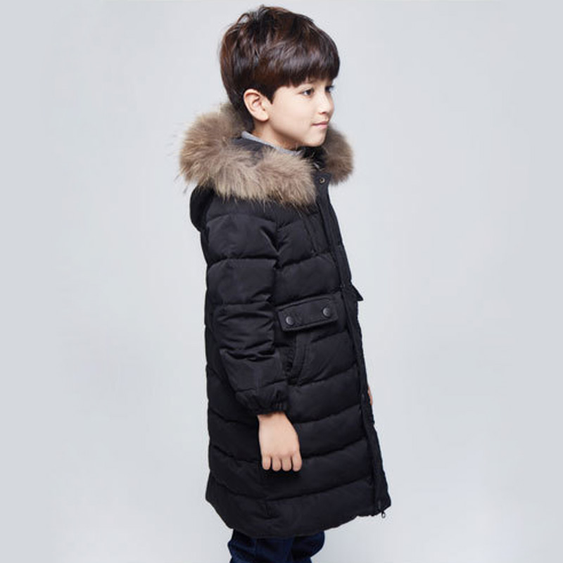 New arrival boys winter jacket children coat long hooded warm boys duck down coats children parka for 4-11 Age  DQ130