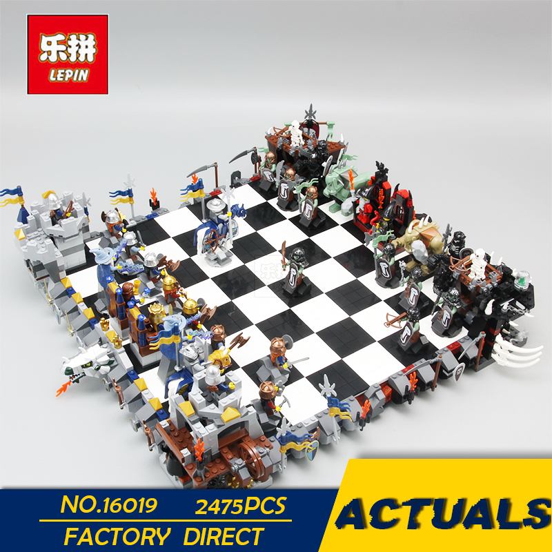 LEPIN 16019 2475 pièces Creative The films série château Set grands échecs blocs de construction jouets pour cadeau de noël 852293