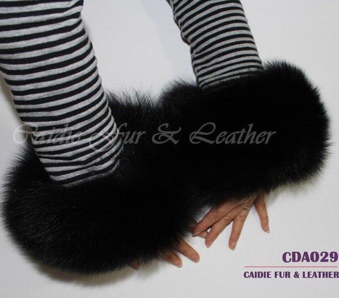 CDA029 2019 Hot Sale  Genuine Fox Fur Wrist Cuff For Women In Winter