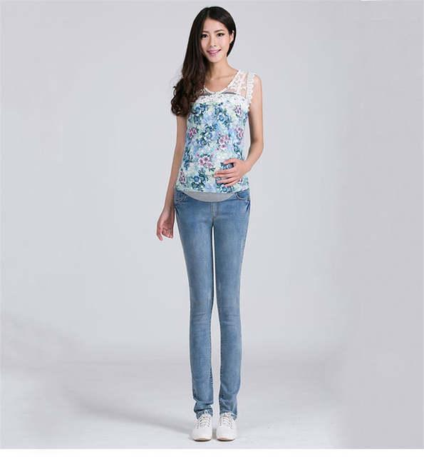 04a6f2d9c ZTOV Denim maternidad pantalones vaqueros talla grande cintura elástica  pantalones largos pantalones para mujeres embarazadas ropa