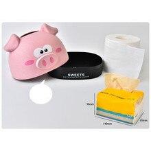 Пшеничные чехлы на коробки для салфеток бумажный органайзер для салфеток, чехол, держатели, Мультяшные милые свиньи, лоток, бумажный рулон, коробка для хранения салфеток, бумажная коробка