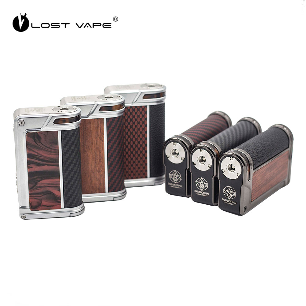 Original 200W LOST VAPE Paranormal DNA250C TC Box Mod W/ Advanced DNA 250C Chipset Max 200w Output No 18650 Battery Box Mod Vape