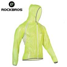ROCKBROS עמיד למים טיולים מעילי TPU רזי רכיבה מעיל גשם גשם מעיל אופני אופניים ג רזי דיג גברים נשים קמפינג מעילים