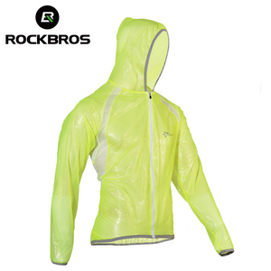 Image 1 - ROCKBROS Waterproof Hiking Jackets TPU Raincoat Cycling Jersey Rain Coat Bike Bicycle Jersey Fishing Men Women Camping Jackets