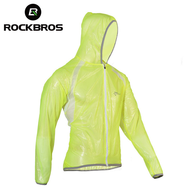 ROCKBROS Waterproof Hiking Jackets TPU Raincoat Cycling Jersey Rain Coat Bike Bicycle Jersey Fishing Men Women Camping Jackets