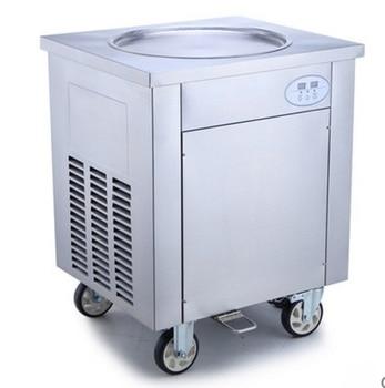 高速凍結シングルローラーアイスクリーム揚げアイスクリームロールコールドプレートマシン