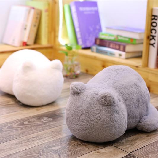 1pc 33cm Ashin Cat Plush Cushions Pillow Back Shadow Cat Filled Animal Pillow Stuffed Toys Kids Gift Home Decor For Christmas|Stuffed & Plush Animals| - AliExpress