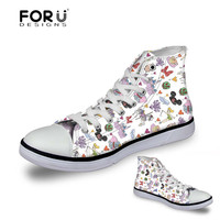 FORUDESIGNS Cartoon Mouse Elephant Pattern Sneakers Women   Vulcanize     Shoes   Casual   Shoes   Women's Flats Autumn   Shoes   for Ladies