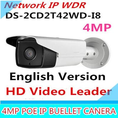 New English Version IP Camera 4.0 megapixel V5.3.3 Multi Language Bullet IR Camera POE IP Camera DS-2CD2T42WD-I8 WDR Function wholesale new english version ip camera full hd 1080p multi language cctv camera poe ds 2cd2t42wd i3 wdr 30m ir ip camera onvif