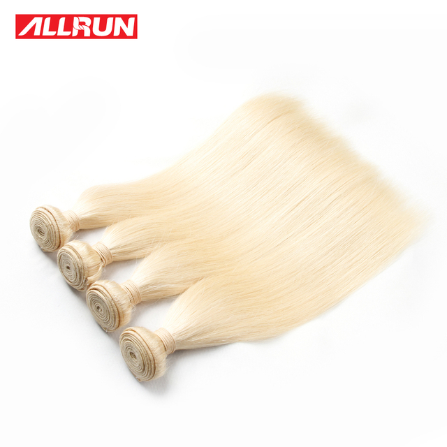 7A Quality  613 Blonde Virgin Hair Straight 4 Bundles Blonde Brazilian Hair Platinum Blonde Virgin Hair Human Hair Extensions