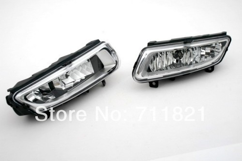 Plastic Lens Front Fog Light Assembly For VW Polo 6R free shipping new pair halogen front fog lamp fog light for vw t5 polo crafter transporter campmob 7h0941699b 7h0941700b