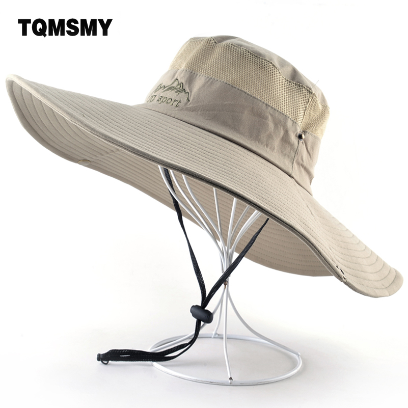 Summer Sun Hats Women Wide Brim Fishing Cap Outdoor Hiking Camping Gorros Men's Beach Hat Anti-UV Quick Drying Bucket Caps Men