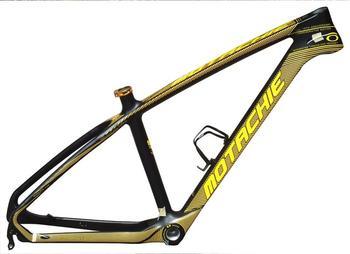 Cuadro de bicicleta de montaña de carbono 26 / 17er MTB T800 Cuadro de bicicleta de montaña de carbono Cable de enrutamiento interno Marco de bicicleta