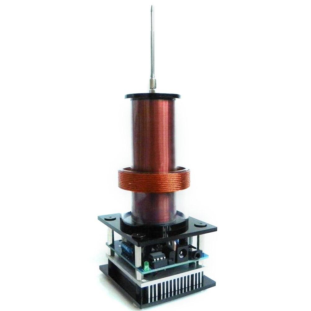 Puissance de Transmission sans fil Plasma pour bobine Tesla Mini amplificateur stéréo corne de haut-parleur électronique avec adaptateur Audio musique