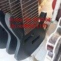 Бесплатная доставка  Новый Большой Джон  необработанные 10 струн  электробас-гитара в черном цвете для одной штуки  в комплекте  с 10 струнами