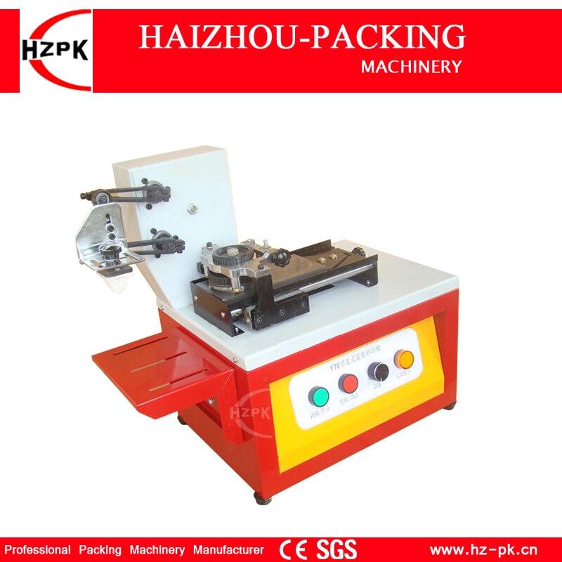 HZPK Electric Pad Printers Desktop Power Coding Printer Iron With Spray Printing Machine Water Ink Round bottle Cap Coding Y-70 khaldoun agha al network coding