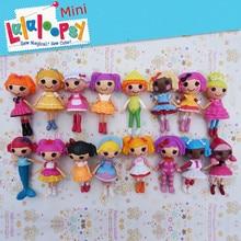 Bebé juguetes de la muñeca de ojos de botón mini Lalaloopsy muñecas de cumpleaños del niño juguetes casa de juegos de acción de colección figura de juguete para niños de regalo para niñas