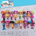 Brinquedos boneca olhos de botão mini Lalaloopsy dolls aniversário da criança do bebê brinquedos casa de jogo de presente ação coleção figura toy kids para meninas